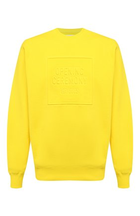 Мужской хлопковый свитшот OPENING CEREMONY желтого цвета, арт. YMBA003F20FLE004   Фото 1