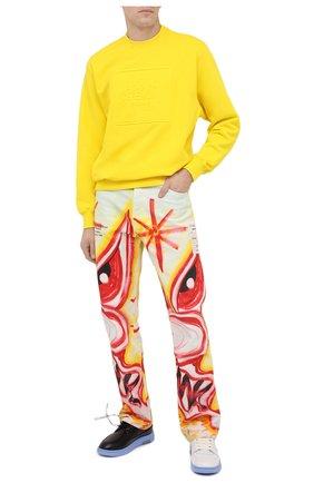 Мужской хлопковый свитшот OPENING CEREMONY желтого цвета, арт. YMBA003F20FLE004   Фото 2