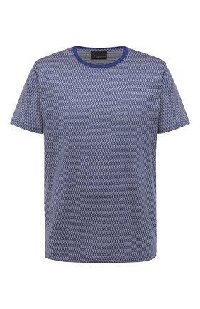 Мужская хлопковая футболка BILLIONAIRE темно-синего цвета, арт. W20C MTK4512 BTE014N | Фото 1