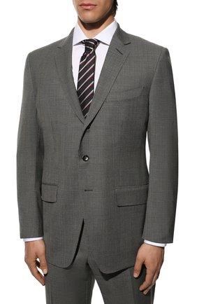 Мужской шерстяной костюм TOM FORD серого цвета, арт. 811R26/21454C | Фото 2
