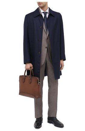 Мужская кожаная сумка для ноутбука RALPH LAUREN коричневого цвета, арт. 437823694 | Фото 2