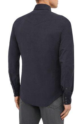 Мужская хлопковая рубашка TOM FORD синего цвета, арт. 8FT875/94MEKI | Фото 4