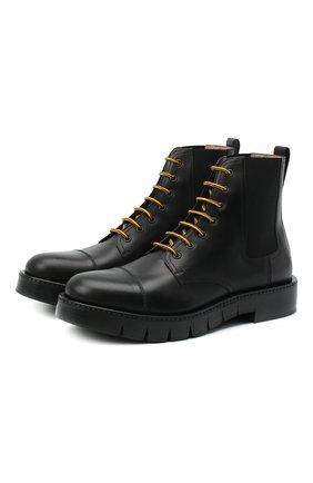 Мужские кожаные ботинки SALVATORE FERRAGAMO черного цвета, арт. Z-07351533E | Фото 1