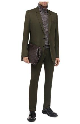 Мужская кожаный клатч BOTTEGA VENETA коричневого цвета, арт. 643076/VCPP0 | Фото 2