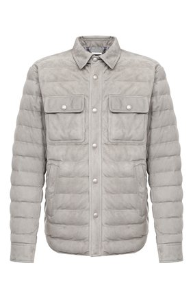 Мужская замшевая куртка RALPH LAUREN светло-серого цвета, арт. 790774301 | Фото 1