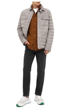Мужская замшевая куртка RALPH LAUREN светло-серого цвета, арт. 790774301 | Фото 2