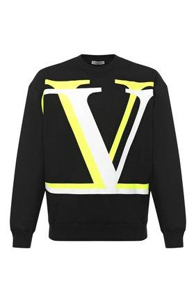 Мужской хлопковый свитшот VALENTINO черного цвета, арт. UV3MF15B6K6 | Фото 1