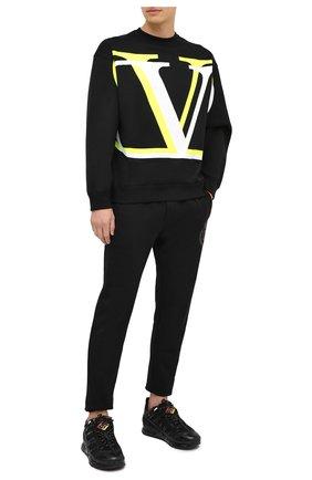 Мужской хлопковый свитшот VALENTINO черного цвета, арт. UV3MF15B6K6 | Фото 2