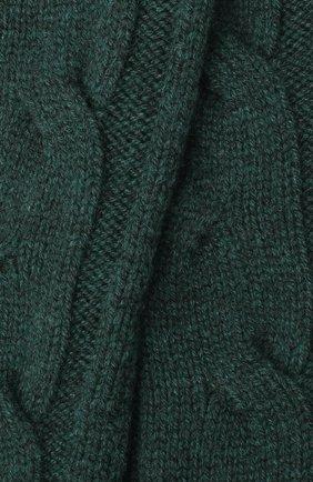 Женские кашемировые носки LORO PIANA зеленого цвета, арт. FAI3620 | Фото 2