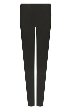 Женские кожаные леггинсы KITON хаки цвета, арт. D50171X05S03 | Фото 1