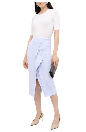 Женская юбка ROLAND MOURET голубого цвета, арт. PW20/S0927/F2241   Фото 2