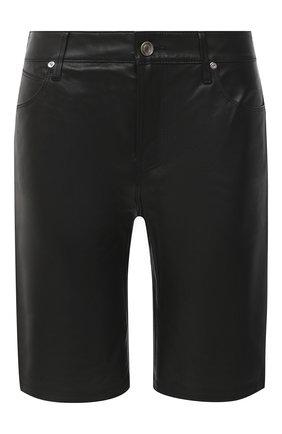 Женские кожаные шорты RTA черного цвета, арт. WU0LE-3030BKSU | Фото 1 (Длина Ж (юбки, платья, шорты): Мини; Женское Кросс-КТ: Шорты-одежда)