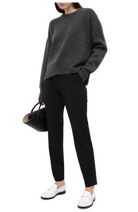 Женские шерстяные брюки THEORY черного цвета, арт. J0701214 | Фото 2