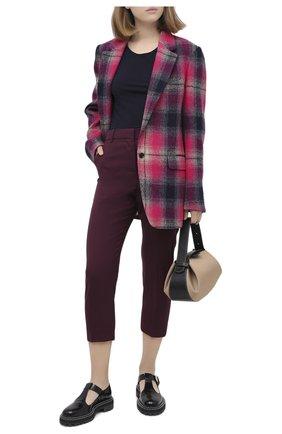 Женские шерстяные брюки MARNI бордового цвета, арт. PAMA0111U0/TW839 | Фото 2