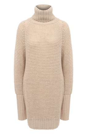 Женский шерстяной свитер PIETRO BRUNELLI бежевого цвета, арт. MAG002/WP0001 | Фото 1