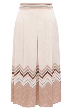 Женская шелковая юбка LORO PIANA светло-розового цвета, арт. FAL3455 | Фото 1