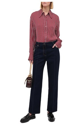 Женская рубашка из вискозы MICHAEL MICHAEL KORS бордового цвета, арт. MU04LUHEWL | Фото 2
