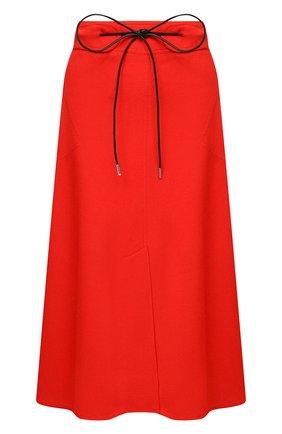 Женская юбка из вискозы VICTORIA BECKHAM красного цвета, арт. 1320WSK001673C | Фото 1