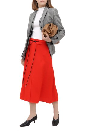 Женская юбка из вискозы VICTORIA BECKHAM красного цвета, арт. 1320WSK001673C | Фото 2