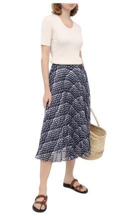 Женская юбка ST. JOHN темно-синего цвета, арт. K710WB2   Фото 2