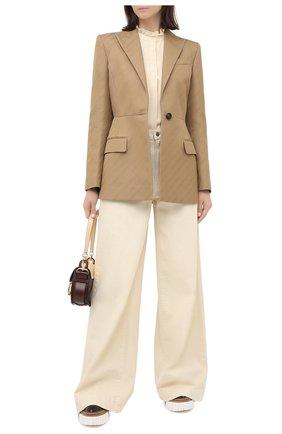 Женская блузка SEE BY CHLOÉ кремвого цвета, арт. CHS20AHT01013 | Фото 2