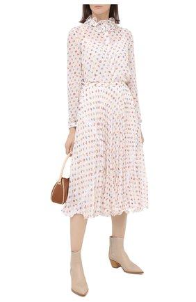 Женская юбка SEE BY CHLOÉ светло-бежевого цвета, арт. CHS20AJU02032 | Фото 2