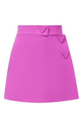 Женская юбка-шорты VALENTINO фиолетового цвета, арт. UB3RA6N01CF | Фото 1