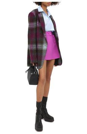 Женская юбка-шорты VALENTINO фиолетового цвета, арт. UB3RA6N01CF | Фото 2