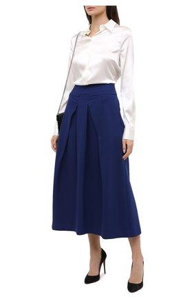 Женская юбка-миди ROLAND MOURET синего цвета, арт. PW20/S0656/F2196   Фото 2