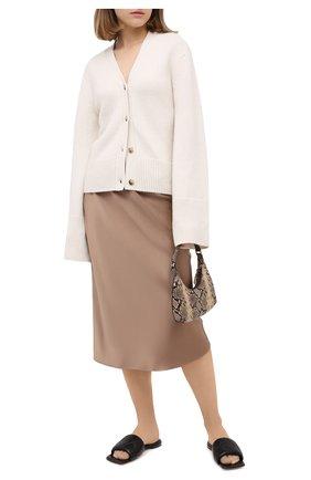 Женская шелковая юбка JOSEPH бежевого цвета, арт. JF004893 | Фото 2