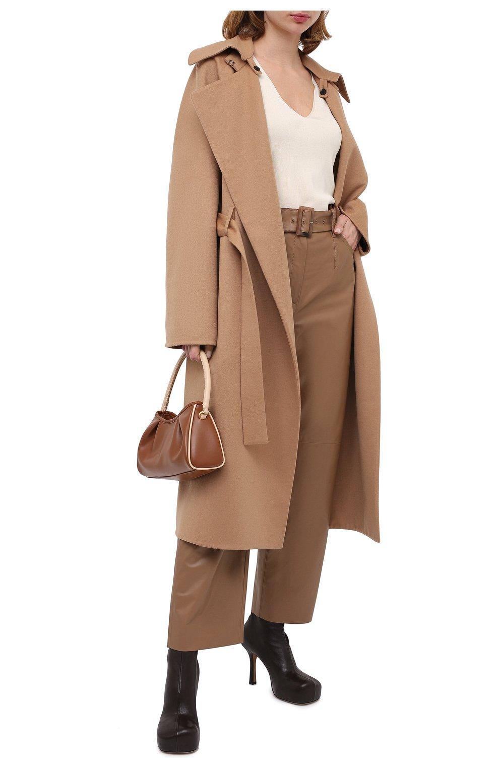 Женское кашемировое пальто TOM FORD бежевого цвета, арт. CP1528-FAX616   Фото 2