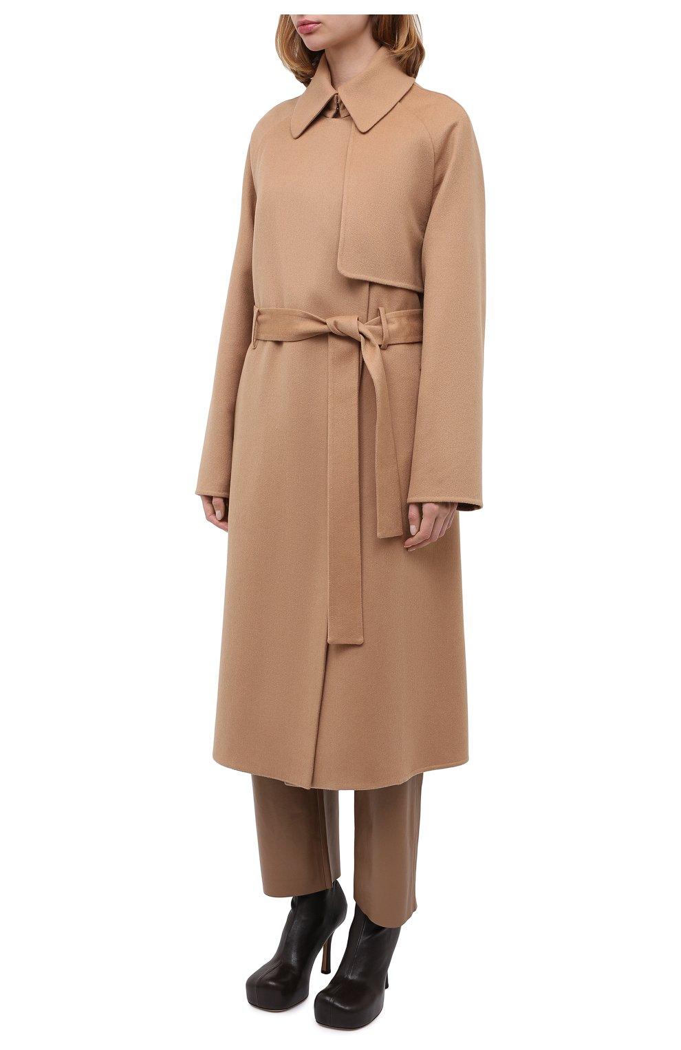 Женское кашемировое пальто TOM FORD бежевого цвета, арт. CP1528-FAX616   Фото 4