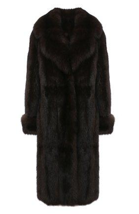 Женская шуба из меха соболя KUSSENKOVV коричневого цвета, арт. 703500003539 | Фото 1