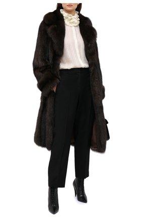 Женская шуба из меха соболя KUSSENKOVV коричневого цвета, арт. 703500003539 | Фото 2
