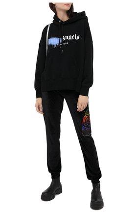 Женские джоггеры PHILIPP PLEIN черного цвета, арт. F20C WJT1245 PJO002N | Фото 2