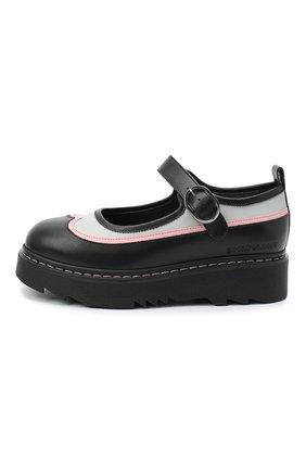 Детские кожаные туфли EMPORIO ARMANI черного цвета, арт. XXD011/X0I35/28-34 | Фото 2
