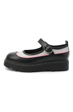 Детские кожаные туфли EMPORIO ARMANI черного цвета, арт. XXD011/X0I35/35-40 | Фото 2