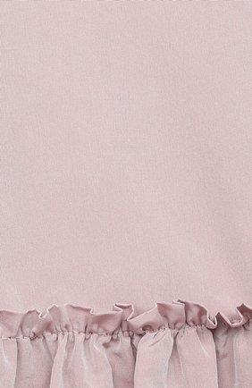 Детское платье DOUUOD розового цвета, арт. 20I/U/JR/AB02/1355/4A-8A | Фото 3 (Рукава: Длинные; Случай: Повседневный; Материал внешний: Синтетический материал; Материал подклада: Хлопок; Ростовка одежда: 8 лет | 128 см)