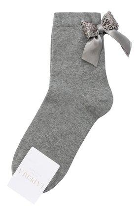 Детские хлопковые носки LA PERLA серого цвета, арт. 47049/9-12 | Фото 1