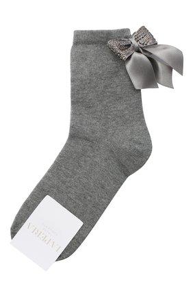 Детские хлопковые носки LA PERLA серого цвета, арт. 47049/7-8 | Фото 1