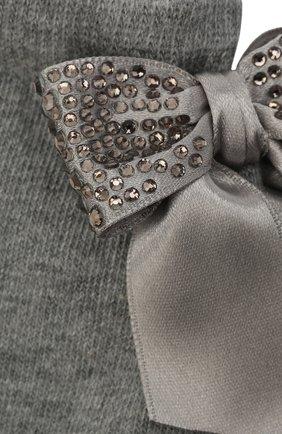 Детские хлопковые носки LA PERLA серого цвета, арт. 47049/7-8 | Фото 2