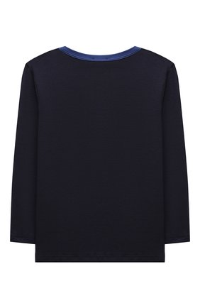 Женская хлопковая пижама LA PERLA темно-синего цвета, арт. 54862/8A-14A   Фото 3
