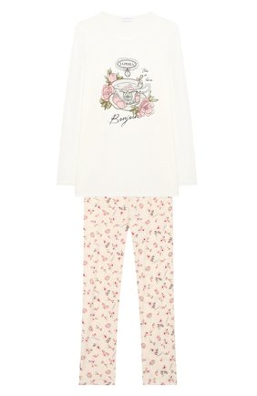 Детская пижама LA PERLA бежевого цвета, арт. 55251/8A-14A | Фото 1