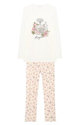 Детская пижама LA PERLA бежевого цвета, арт. 55251/2A-6A   Фото 1