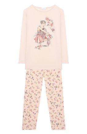 Детская пижама LA PERLA розового цвета, арт. 55261/8A-14A | Фото 1