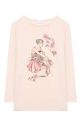 Детская пижама LA PERLA розового цвета, арт. 55261/8A-14A | Фото 2