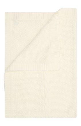 Детского шерстяное одеяло BABY T белого цвета, арт. 20AI032C0 | Фото 1