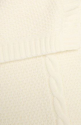 Детского шерстяное одеяло BABY T белого цвета, арт. 20AI032C0 | Фото 2