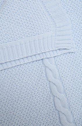 Детского шерстяное одеяло BABY T голубого цвета, арт. 20AI032C0 | Фото 2
