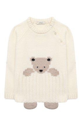 Детский комплект из пуловера и брюк BABY T белого цвета, арт. 20AI060C/1M-12M   Фото 2